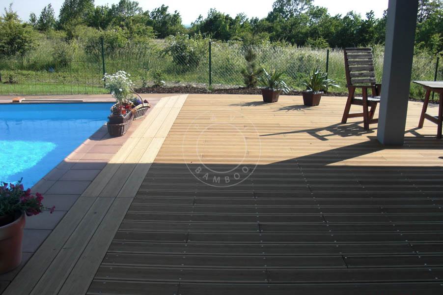 Vendita parquet di bambù decking per esterni pavimenti bordi