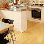 kitchen laying bamboo flooring