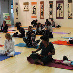 meditazione yoga su bambu